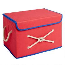 Knotted Fabric Storage Bin with Rope Handles