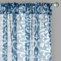 "84"" Bombay™ Scroll Rod Pocket Window Curtains, Set of 2"