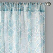 "Bombay™ 84"" Geo Rod Pocket Window Curtains, Set of 2"
