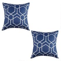 Hexagon Square Throw Pillows, Set of 2