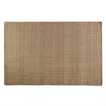 5'x7' Chocolate/Beige Diamond Wool Weave Area Rug