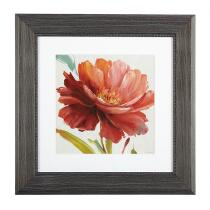 "12"" Red Flower Framed Wall Art"