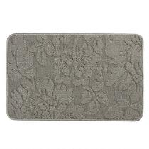 Gray Flowers Textured Multipurpose Mat