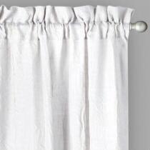 Solid Wrinkle Rod Pocket Window Curtains, Set of 2