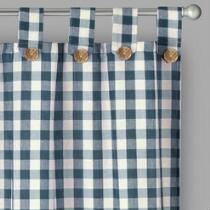 Willow Branch™ Farmhouse Country Check Window Curtains, Set of 2