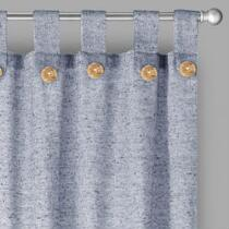 Willow Branch™ Farmhouse Solid Button Tab Window Curtains, Set of 2