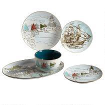 Coastal Scene Ceramic Dinnerware Collection