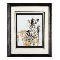 "18""x22"" Zebra Fillet Framed Wall Art"