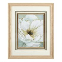 "18""x22"" White Flower Fillet Framed Wall Art"
