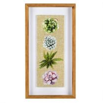 "14""x26"" 4 Cacti Shadowbox Framed Wall Art"