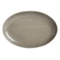 Gray Lace Handmade Ceramic Oval Serving Platter