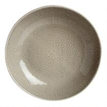 Gray Lace Handmade Ceramic Serving Bowl
