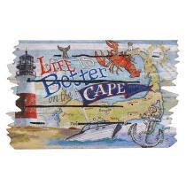 """""""Life is Better"""" Cape Cod Stain-Resistant Door Mat"""