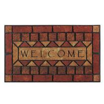 """""""Welcome"""" Brick Stain-Resistant Door Mat"""