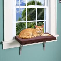 Deluxe Cat Window Perch with Cushion