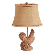 "21"" Rooster Table Lamp"