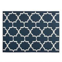 "4'4""x6' Navy Gate Printed Area Rug"