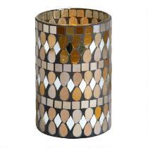 Mosaic Glass LED Hurricane