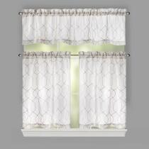 Gatework Embroidered Window Tier & Valance Set