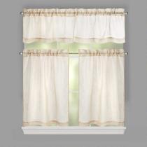 Alexandria Embroidered Window Tier & Valance Set