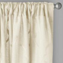 "96"" Caroline Embroidered Geo Window Curtains, Set of 2"