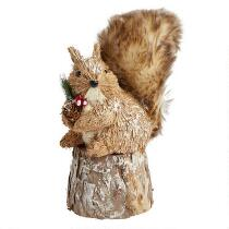 "9.75"" Winter Squirrel on Log"