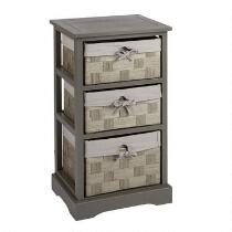 Sara Gray 3-Basket Cord Liner Cabinet