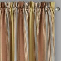 """Traditions by Waverly® 84"""" Brown Stripes Window Curtains, Set of 2"""