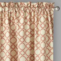 """Traditions by Waverly® 84"""" Clay Geo Window Curtains, Set of 2"""