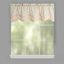 Traditions by Waverly® Clay Damask Valances, Set of 2