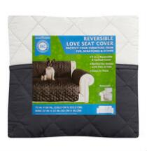 AKC Quilted Reversible Loveseat Furniture Cover