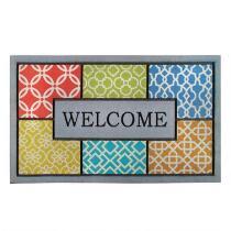 """""""Welcome"""" Patches Door Mat"""