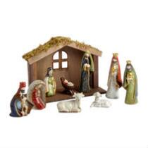 Porcelain Nativity Set, 10-Piece