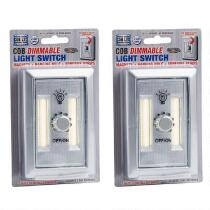 Silver COB LED Dimmable Light Switches, Set of 2