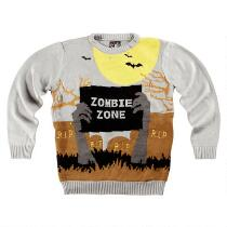 """Adult """"Zombie Zone"""" Light-Up Ugly Holiday Sweater"""