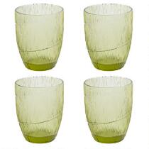 Country Roads by Laurie Gates Leaf Cooler Glasses, Set of 4