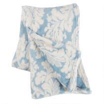 Patterned Plush Throw Blanket