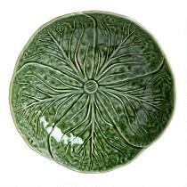 "9"" Green Cabbage Ceramic Serving Bowl"