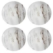 Gray Marble Swirl Heavyweight Melamine Tidbit Plates, Set of 4