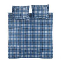 Sunbeam® Plaid Print Flannel Duvet Set