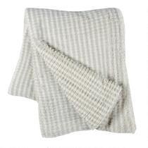 Gray Marled Brush Throw Blanket