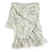 Tonal Fringe Acrylic Throw Blanket
