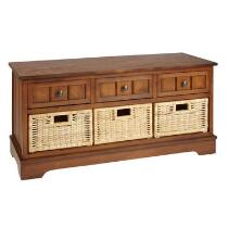 Chelsea Honey 3-Basket/3-Drawer Cabinet