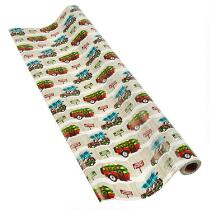 Christmas Camper & Station Wagon Gift Wrapping Paper Rolls, Set of 2
