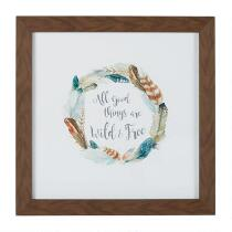 """15"""" """"Good Things are Wild & Free"""" Framed Wall Art"""