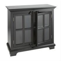 2-Door Lattice Glass Panes Cabinet