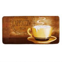 """Cappuccino Brew"" Memory Foam Cushioned Floor Mat"