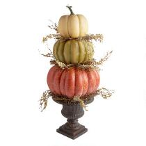"30"" Triple Stack Pumpkin Harvest Decor"