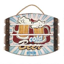 "10""x13"" ""Cold Beer"" Slatted Sign"
