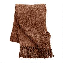 Fringed Chenille Throw Blanket